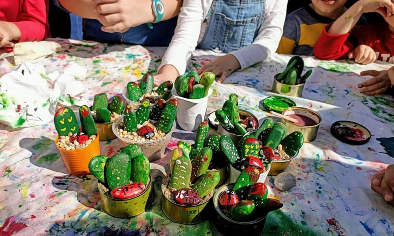 El jardín botánico y los niños
